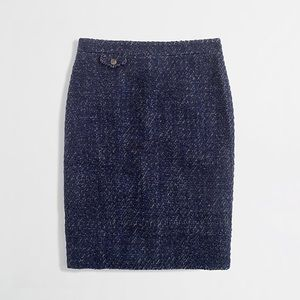 J. Crew No. 2 Textured Tweed Pencil Skirt
